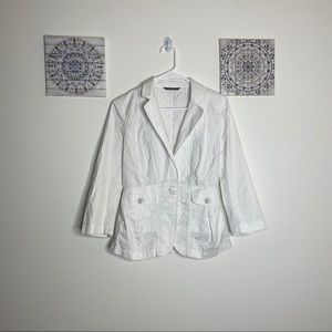 Armani Exchange White Blazer Top Womens Medium